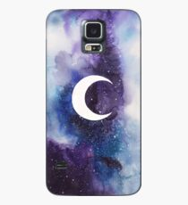 space (crescent moon) Case/Skin for Samsung Galaxy