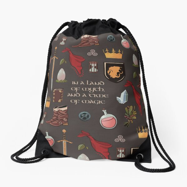 In a land of myth and a time of magic_Merlin Drawstring Bag