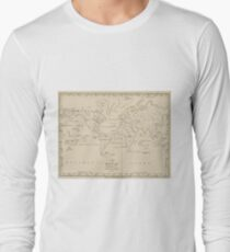 Vintage Map of The World (1794) Long Sleeve T-Shirt