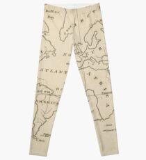 Vintage Map of The World (1794) Leggings