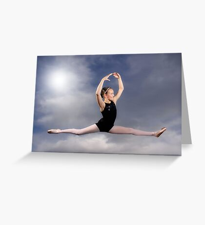Leaping in the Clouds Greeting Card