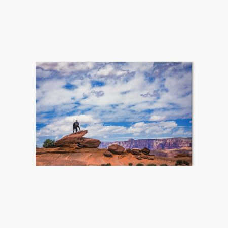 Above the Canyon Together Art Board Print