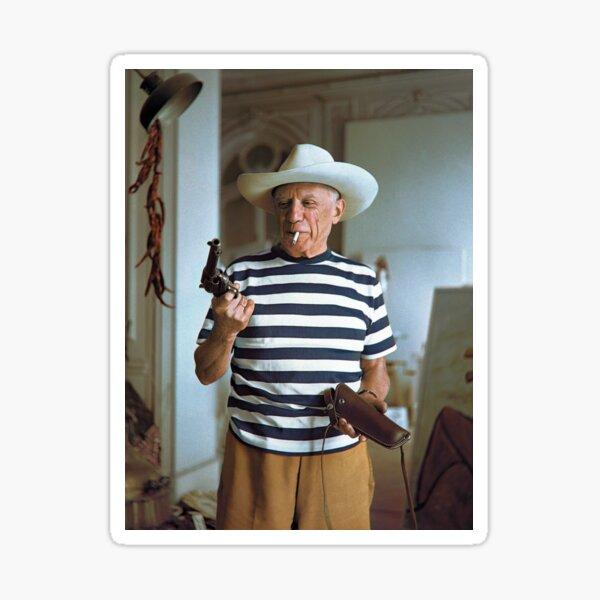Pablo Picasso avec pistolet Sticker