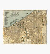 Lámina fotográfica Mapa vintage de Cleveland OH (1894)
