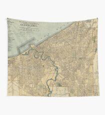 Tela decorativa Mapa vintage de Cleveland OH (1894)