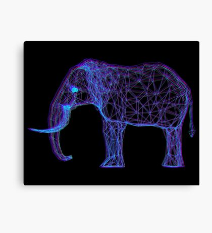 3D Elephant - Anaglyph Stereoscopic Effect Canvas Print