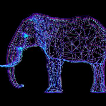 3D Elephant - Anaglyph Stereoscopic Effect by ddtk