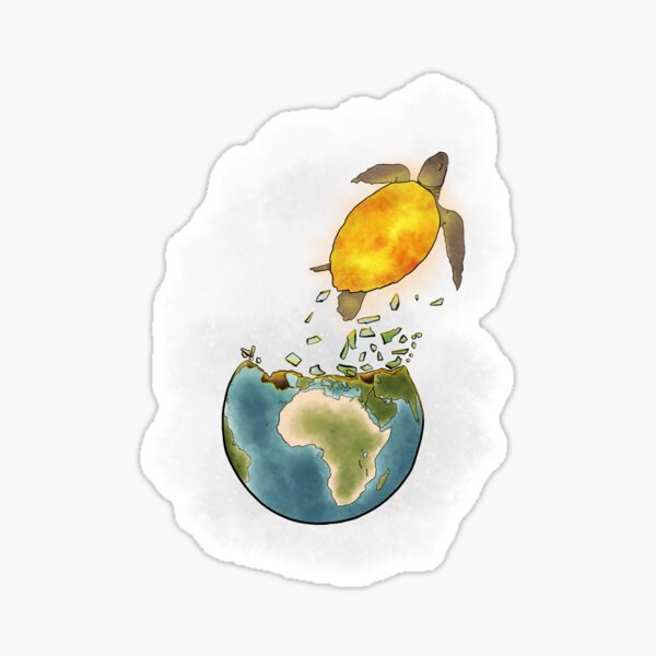 Climate changes the nature Sticker