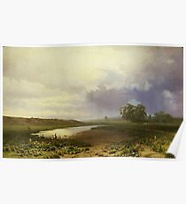 Wet Meadow by Fedor Aleksandrovich Vasiliev Poster