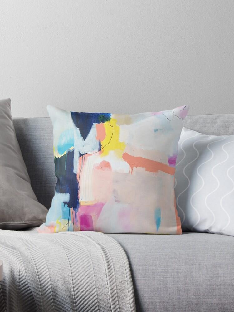 Leidenschaften eins | bunte abstrakte Acrylmalerei | rosa blauer ...
