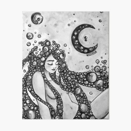 Thoughts to the Moon Art Board Print