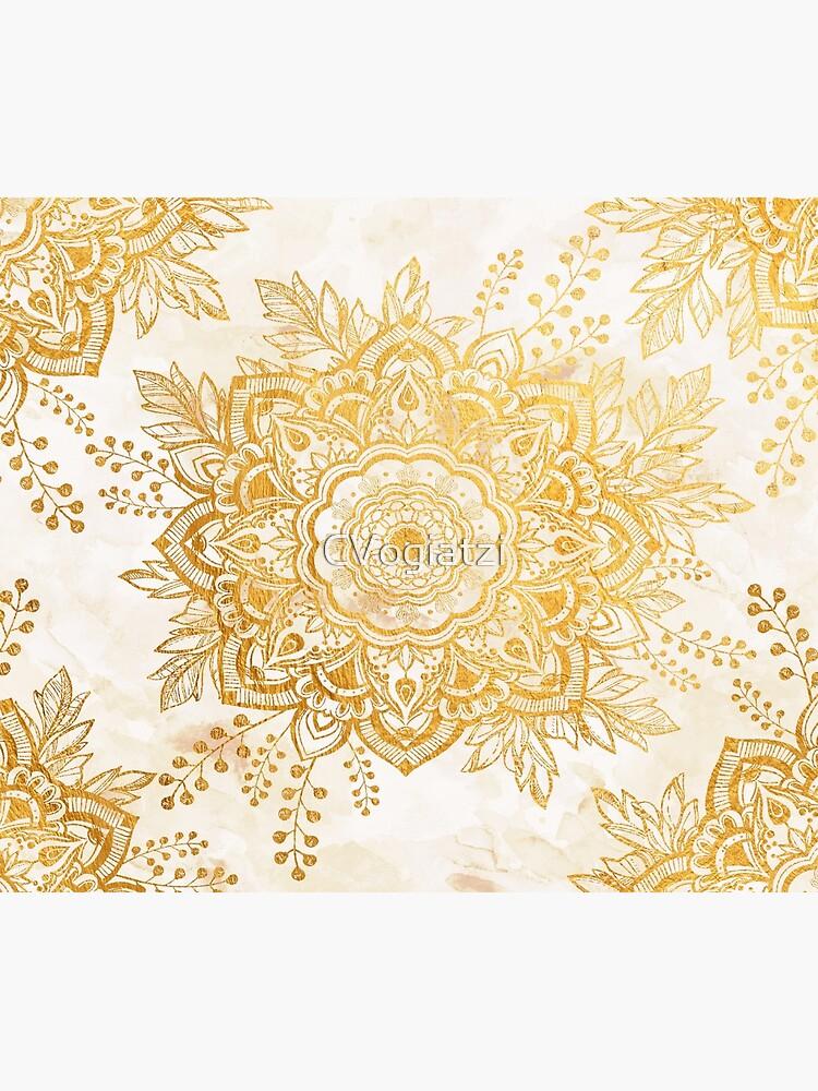 Queen Starring of Mandala-Gold Sunflower by CVogiatzi