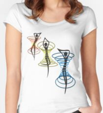 caught in RGB Women's Fitted Scoop T-Shirt