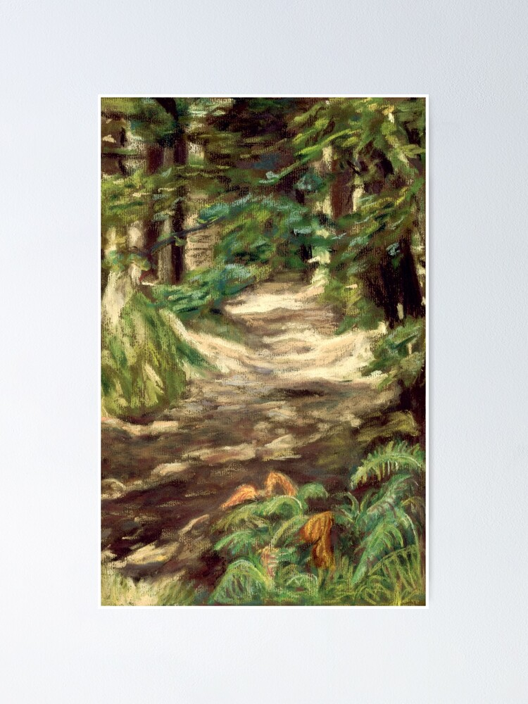 Alternate view of Woods near Llanfihangel Crucorney, Wales Poster