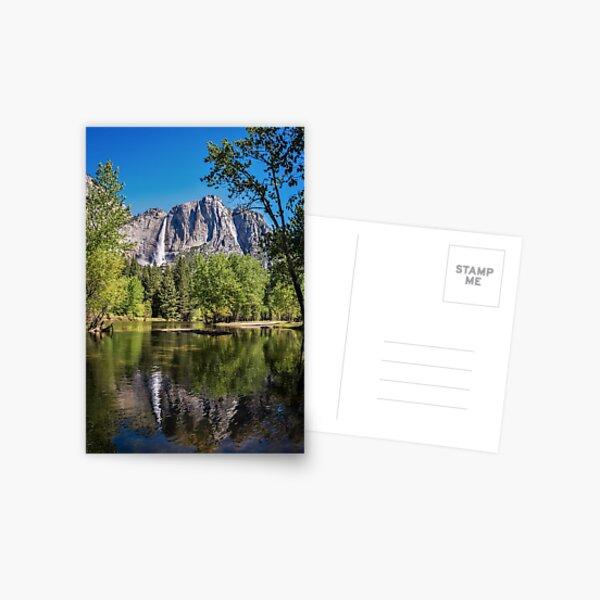 Yosemite Falls reflected in the Merced River Postcard