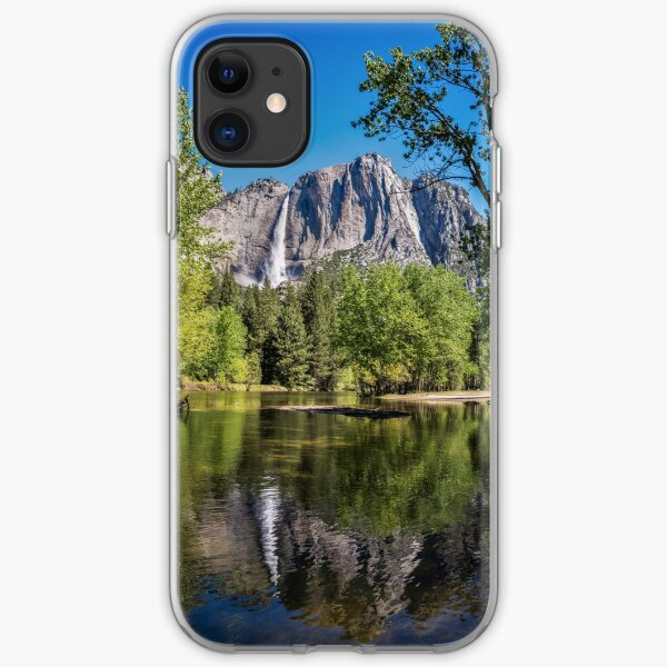 Yosemite Falls reflected in the Merced River iPhone Soft Case
