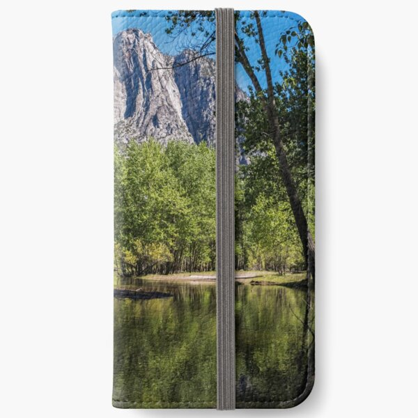 Yosemite Falls reflected in the Merced River iPhone Wallet
