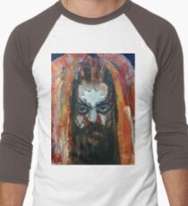 ROY WOOD Portrait. Wizzard, ELO, The Move Men's Baseball ¾ T-Shirt