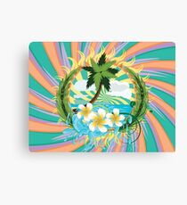 Tropic island Canvas Print
