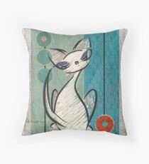 Mid Century Modern: Lil Miss Purrfect Throw Pillow