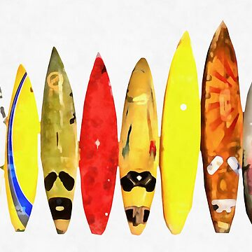 Surf Boards Artwork by peanutroaster
