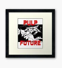 Pulp Future Spaceship Print Framed Print