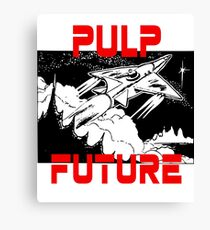 Pulp Future Spaceship Print Canvas Print