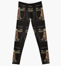 Da Vinci Meets the Doctor (Dark colors) Leggings