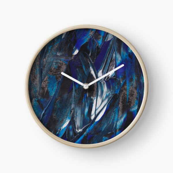 Waves Triptych I Clock