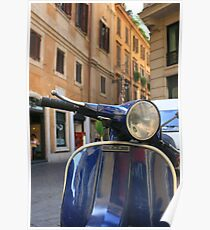 Italian Scooter Poster