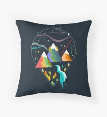 Hit the Road II Throw Pillow