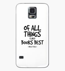Books are Best Quote - Nikola Tesla Case/Skin for Samsung Galaxy
