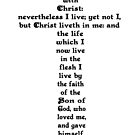 GALATIANS 2:20 cross by Calgacus