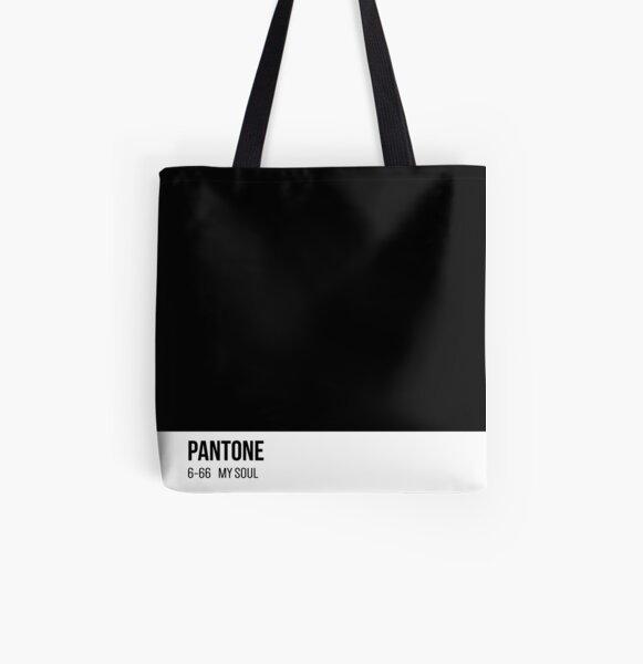 PANTONE Black as my soul  All Over Print Tote Bag