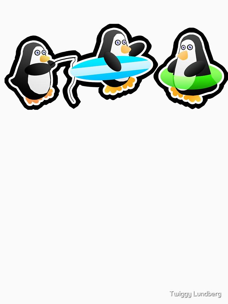 Penguin Summer by JayBakkerArt