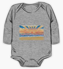 Sunset on tropical beach 2 One Piece - Long Sleeve
