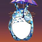 Totoro Polygonal Artwork tribute to Studio Ghibli by DesignDinamique