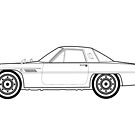 Mazda Cosmo Outline Drawing by RJWautographics