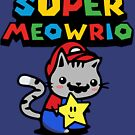 It's A Me Meowrio Parody Funny Cat Gamer's Graphic T Shirt by DesIndie