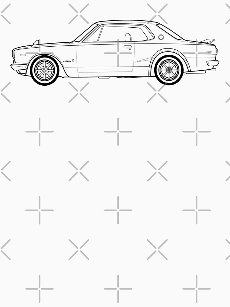 Image Of Skyline Car Outline Skyline Car Drawing At Getdrawingscom