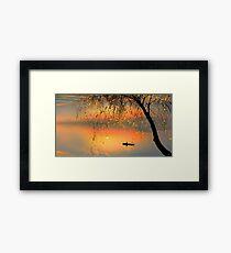 Fishing Sunset Framed Print