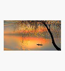 Fishing Sunset Photographic Print