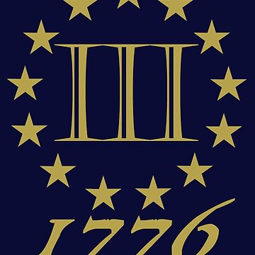 3 Percent 1776 Gold  by Patriot76