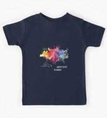 USA, America - Map, Watercolor Kids Tee