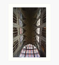 Gloucester Cathedral Ceiling Art Print