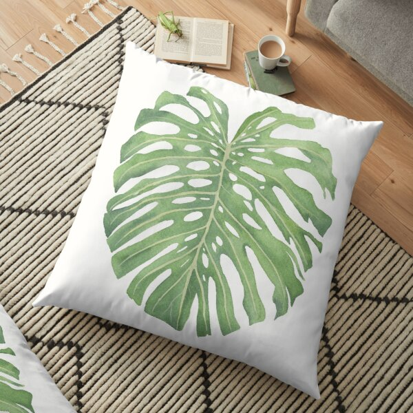 Monstera Leaf 1 Floor Pillow
