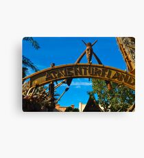Adventureland Entrance Canvas Print