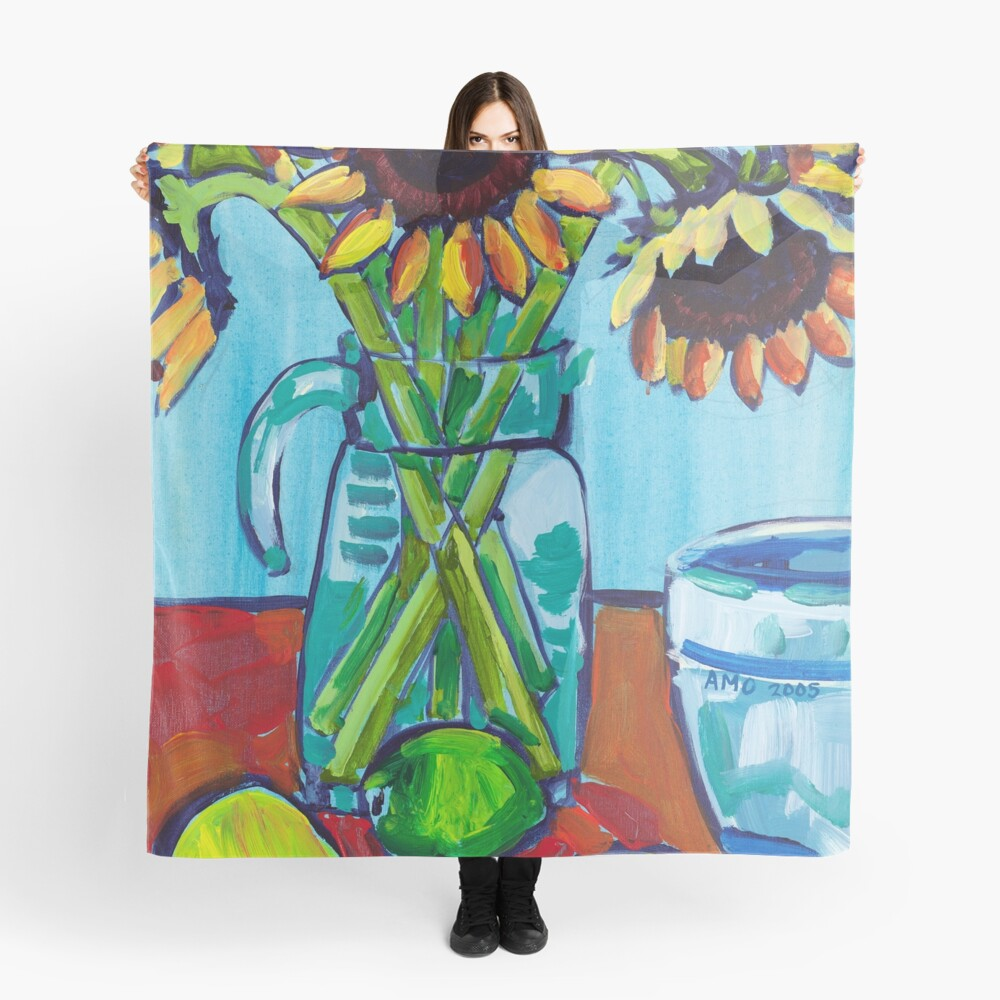 Sunflowers and Limes Scarf
