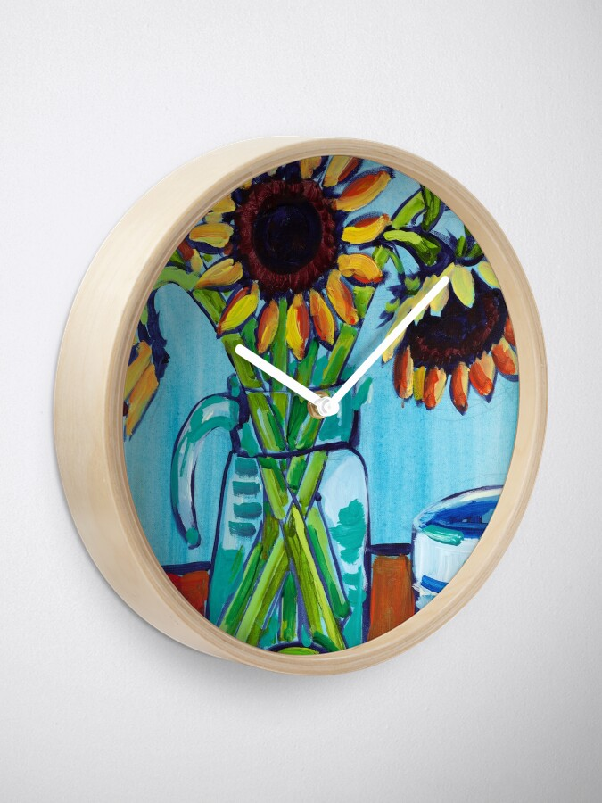 Alternate view of Sunflowers and Limes Clock