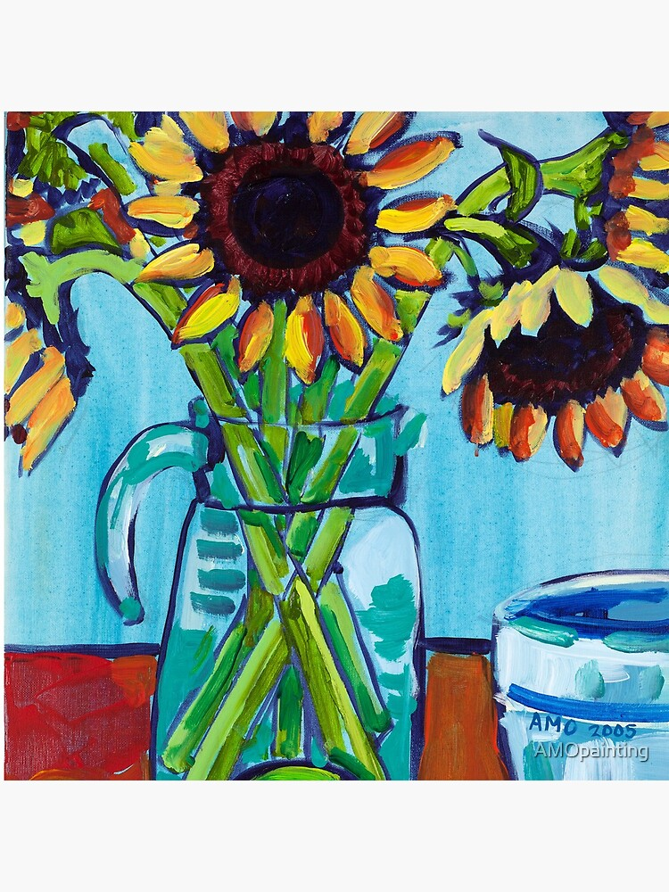 Sunflowers and Limes by AMOpainting